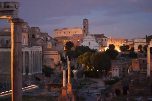 You'll see this view of the Roman Forum from Campidoglio.