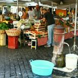 Try fresh produce sold at Campo di Fiori