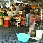 Try fresh produce sold at Campo di Fiori