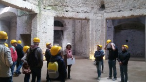 An archaeologist guide us through the ruins of Emperor Nero's sprawling residence, the Domus Aurea.